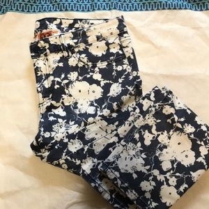 Tory Burch Floral Denim size 30 waist